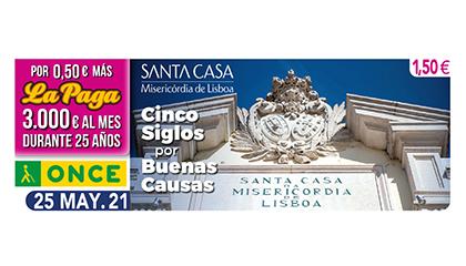 Cupón dedicado a la Santa Casa de Lisboa