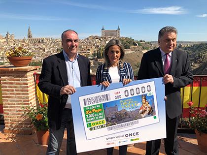 Foto de la presentación del cupón dedicado a la Romería de la Virgen del Valle de Toledo