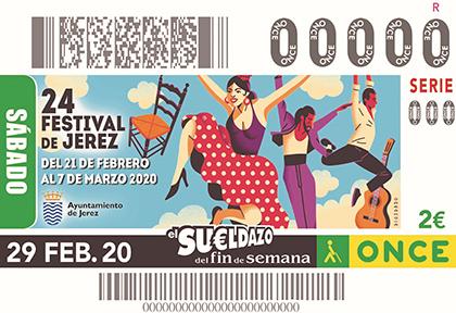 Cupón de la ONCE dedicado al Festival Flamenco de Jerez