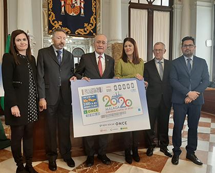 Presentación del cupón dedicado a Málaga Capital Europea del Deporte 2020