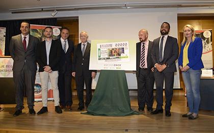 Presentación del cupón de la ONCE dedicado al Pasaje Begoña de Torremolinos
