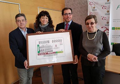 presentación del cupón de la ONCE dedicado al Teatro Calderón de Valladolid