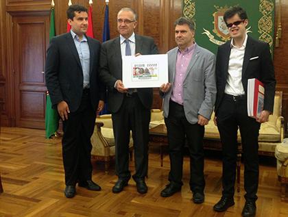 Presentación del cupón que la ONCE dedica a las Fiestas de San Fermín 2019