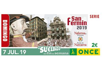 Cupón del 7 de julio de 2019 dedicado a San Fermín