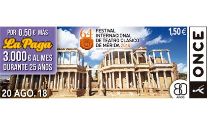 Cupón del 20 de agosto dedicado al Festival Internacional de Teato Clásico de Mérida