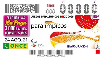 Cupón del 24 de agosto dedicado a la inauguración de los Juegos Paralímpicos
