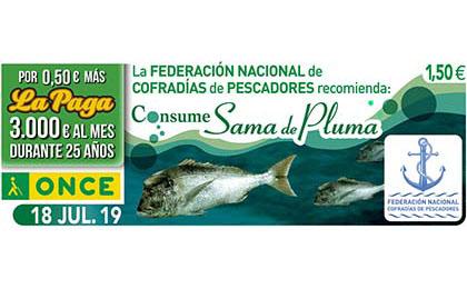 Cupón del 18 de julio dedicado al pescado sama de pluma