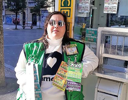 Maribel Pesqueira, vendedora de la ONCE que ha repartido 350.000 euros en San Sebastián