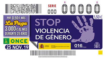 25-N Cupón contra la Violencia de Género
