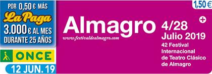 Cupón de la ONCE dedicado al Festival Internacional de Teatro de Almagro 120619
