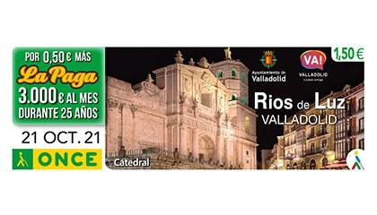 Cupón de la ONCE dedicado a Rios de Luz, Valladolid