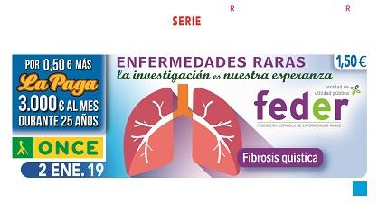 Cupón de la ONCE dedicado a la Federación Española de Enfermedades Raras 020119