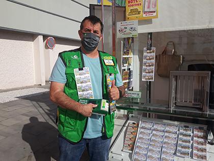 José Antonio Gutiérrez, vendedor de la ONCE que dado un Sueldazo en San Juan de Aznalfarache