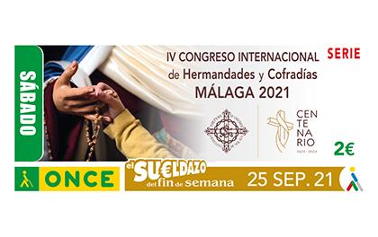 Cupón dedicado al IV Congreso Internacional  de Hermandades y Cofradías