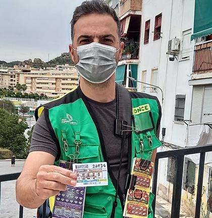 Sergio Martín de los Reyes, vendedor de la ONCE en Málaga