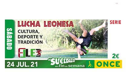 Cupón de la ONCE dedicado a la Lucha Leonesa