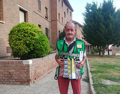 Ángel Crespo Martínez, vendedor de la ONCE que ha dado el Sueldazo