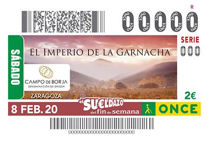 Cupón de la ONCE dedicado al 'imperio de la garnacha' y la Denominación de Origen Campo de Borja
