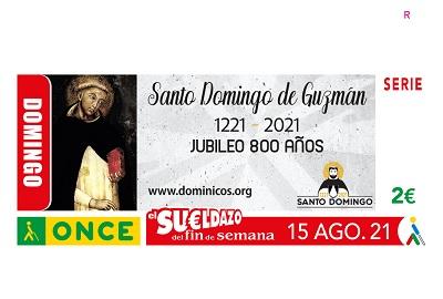 Cupón dedicado al Jubileo de Santo Domingo de Guzmán