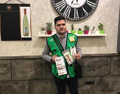 Jorge Juan Buendía, vendedor de la ONCE que ha repartido la suerte en Socuéllamos