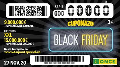 Cuponazo de la ONCE dedicado al Black Friday