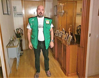 VICENTE GARCÍA VENDEDOR DE LA ONCE QUE HA DADO EL CUPONAZO EN SABADELL