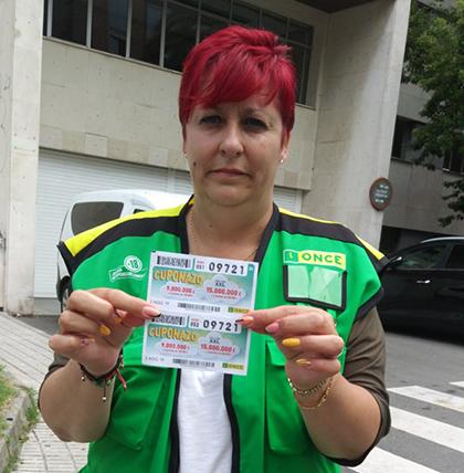 Ana María Meana Rodríguez ha repartido más de 9 millones con el Cuponazo de la ONCE en Gijón