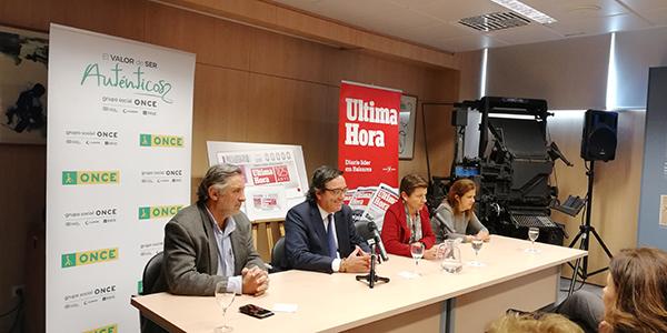 Presentación del cupón que la ONCE dedica al 125 aniversario del Diario Última Hora
