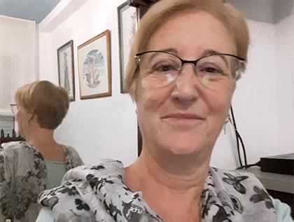 Dolores Encarnación Solís, vendedora que ha repartido el primer premio