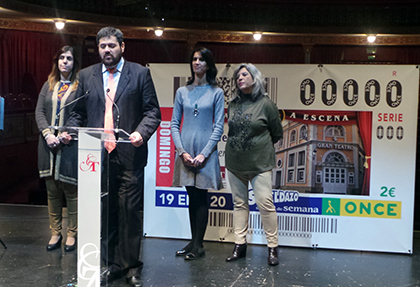 Presentación del cupón que la ONCE dedica al Gran Teatro de Cáceres