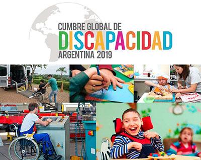 Cartel de la II Cumbre Global de la Discapacidad en Argentina