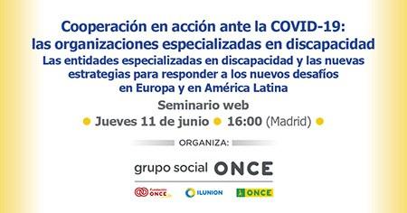 Cartel del seminario sobre medidas adoptadas por la UE ante el COVID-19