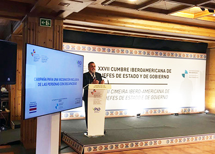 Miguel Carballeda durante su intervención en la XXVII Cumbre Iberoamericana de Jefes de Estado y de Gobierno