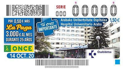 Cupón dedicado al Hospital Universitario de Araba