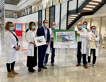 Presentación del cupón dedicado al Hospital Central Universitario de Asturias