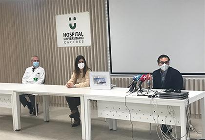 PRESENTACION DEL CUPON DEDICADO AL HOSPITAL UNIVERSITARIO DE CACERES 1