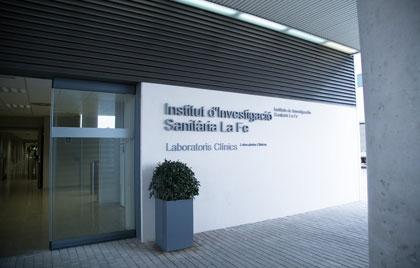 Fachada del Instituto de Investigación Sanitaria La Fe de Valencia