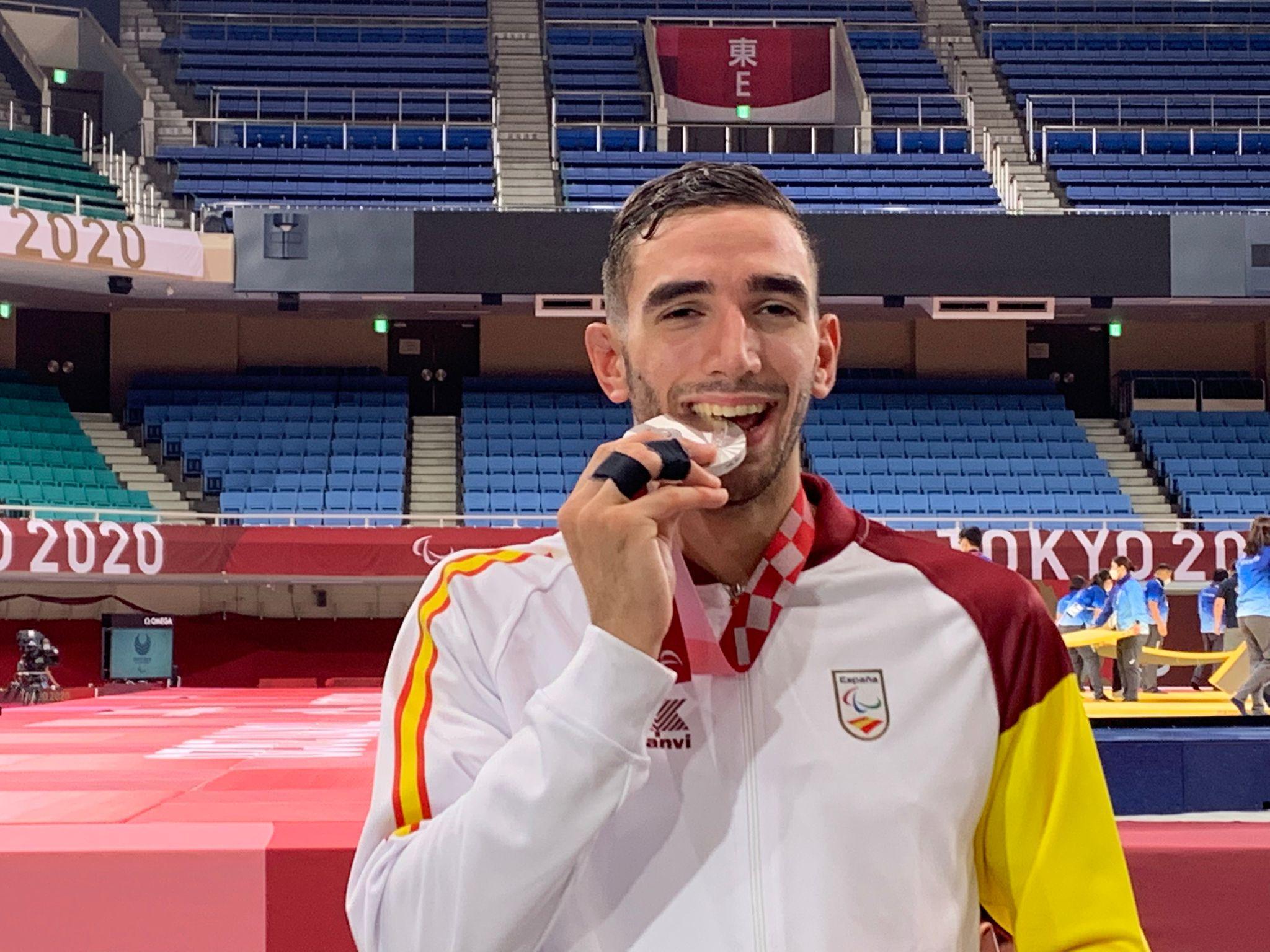 El judoka Sergio Ibáñez muerde la plata paralímpica en Tokio