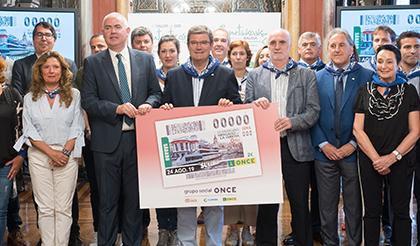 Presentación del cupón de la ONCE dedicado al Mercado de la Ribera