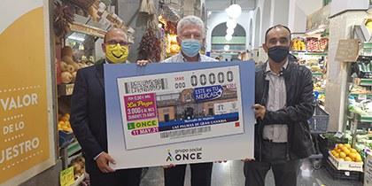 Presentación del cupón de la ONCE dedicado al Mercado de Vegueta