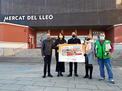 Presentación del cupón dedicado al Mercat del Lleó Girona