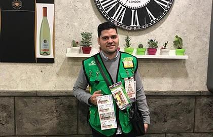 Jorge Juan Buendía, vendedor que ha dejado la suerte en Socuéllamos