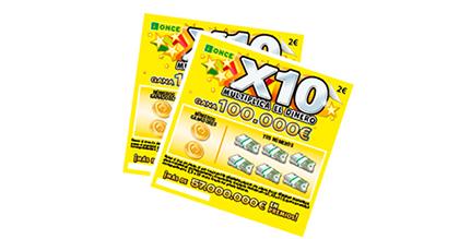 Boletos del Rasca X10 de la ONCE