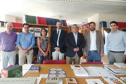Visita del rector de la Universidad de Extremadura a la Delegación Territorial de la ONCE en la Comunidad Autónoma