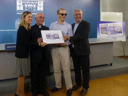 Presentación del cupón de la ONCE dedicado al Reloj de la Catedral de Sigüenza
