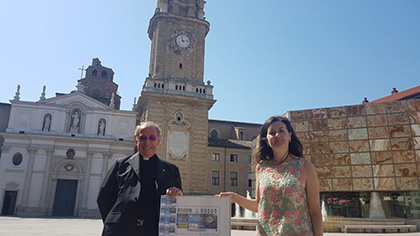 Presentación del cupón dedicado al reloj de la Catedral de Zaragoza