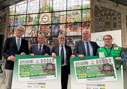 Presentación del cupón dedicado al Reloj de la Estación Intermodal Bilbao Abando Indalecio Prieto