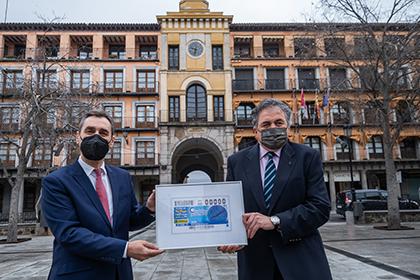 Presentación del cupón de la ONCE dedicado al reloj de la Plaza de Zocodover en Toledo