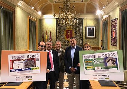 Presentación de los cupones dedicados al reloj de la Torre de Mangana y al Teatro Auditorio de Cuenca