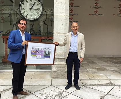 Presentación del cupón de la ONCE dedicado al Reloj de la Universidad de Valladolid